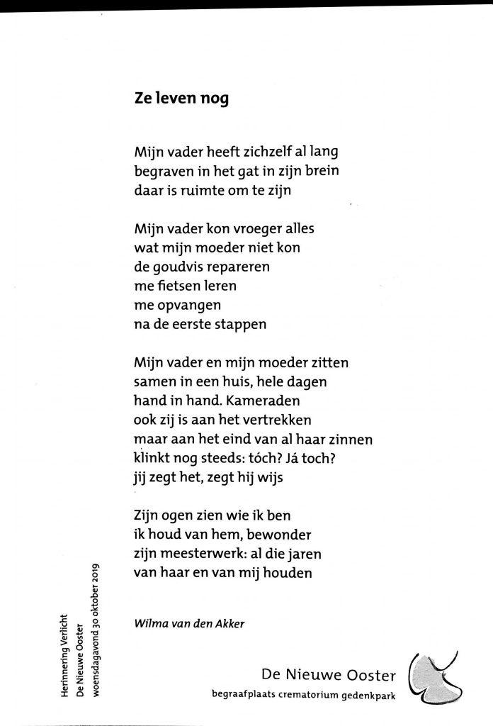 Gedicht Ze Leven Nog Mevrouw Schrijftaal