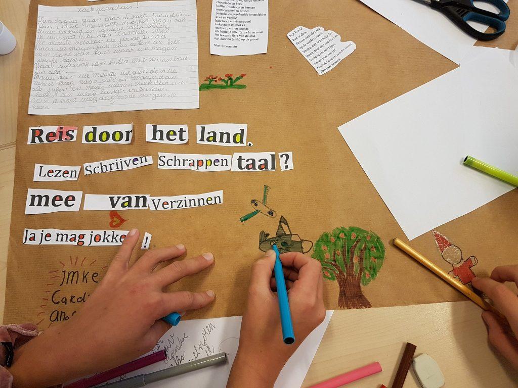 'Reis mee?' is het thema van de Kinderboekenweek 2019, dus ook van 'Woordvangers' in groep zes van het Palet.